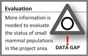Small Mammal Evaluation Graphic