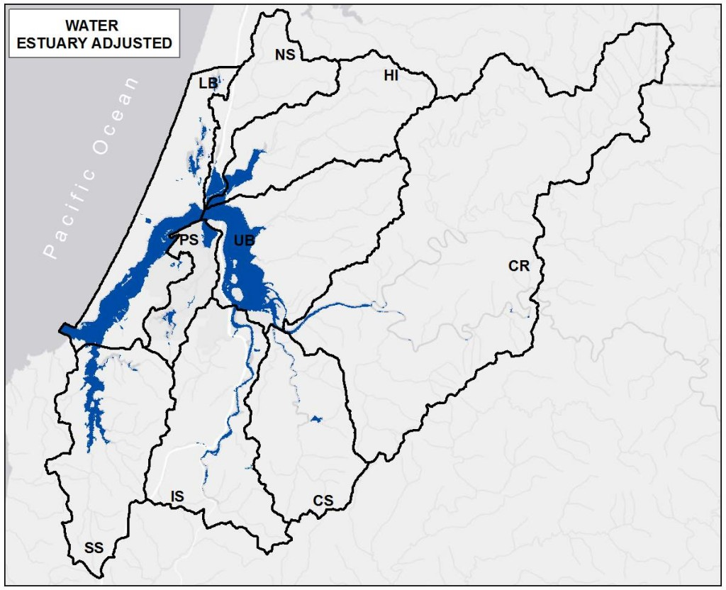 Figure 10. Water distribution in the project area- combining 2006 and 2011 NLCD data. Data Source: NLCD 2006; 2011.