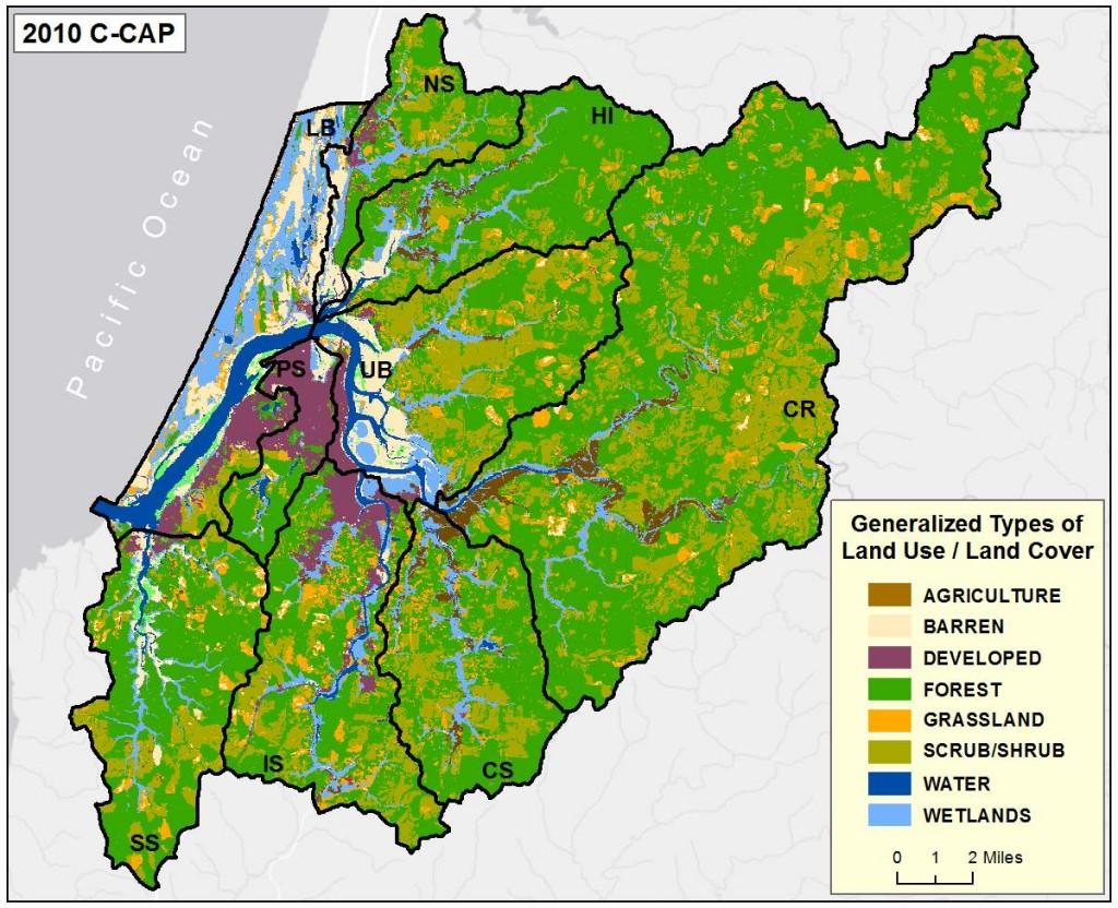 Figure 2b. Coastal Change Analysis Program (C-CAP) 2010 land use and cover. Data Source: C-CAP 2014