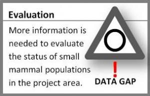 Small Mammal Evaluation Graphic